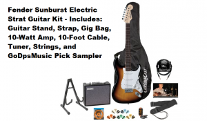 Fender Sunburst Electric Strat Guitar Kit